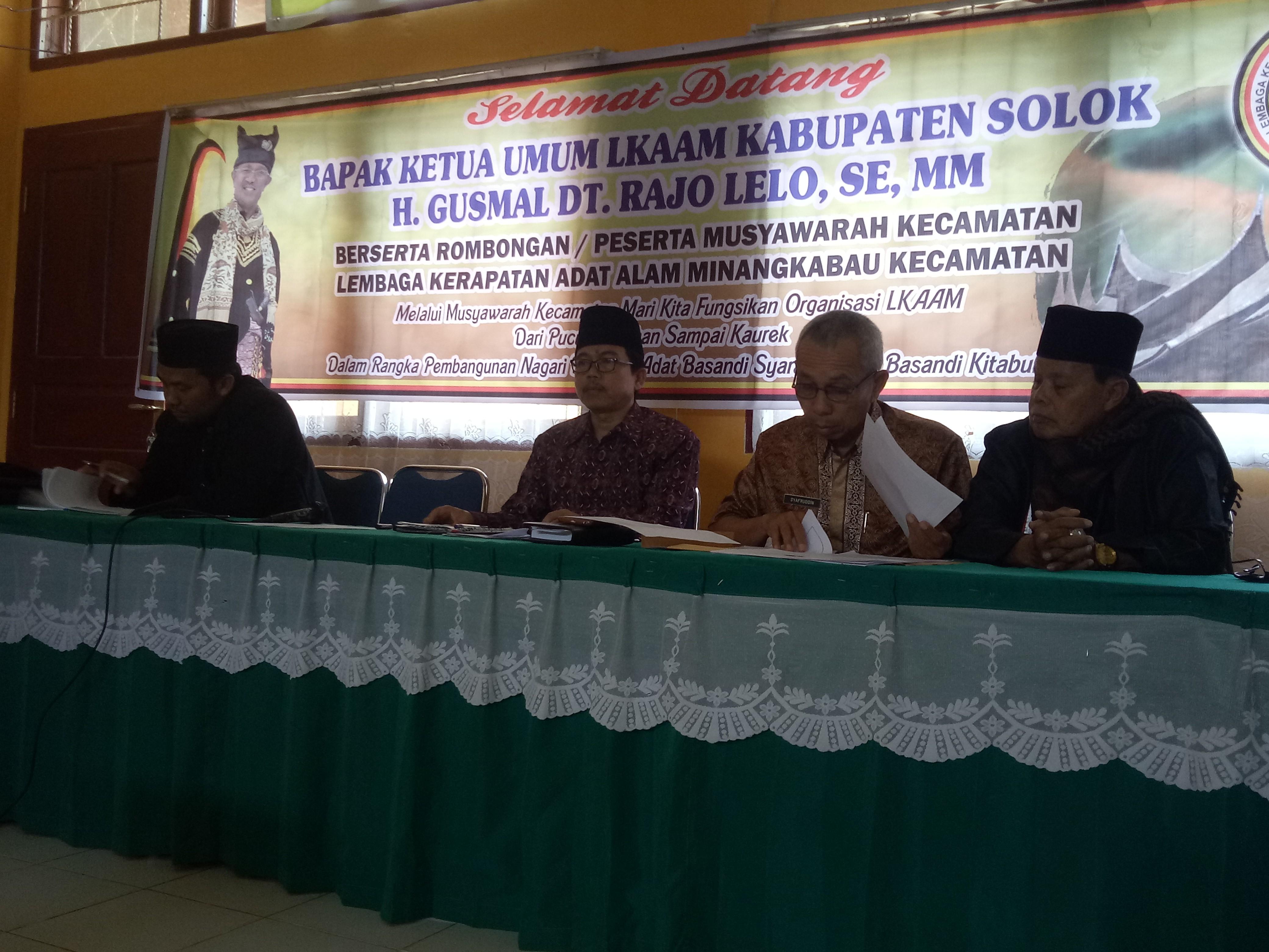 Pemilihan Kepengurusan LKAAM Kecamatan Hiliran Gumanti periode 2019-2002